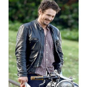 THE ADDERALL DIARIES JAMES FRANCO BLACK LEATHER JACKET